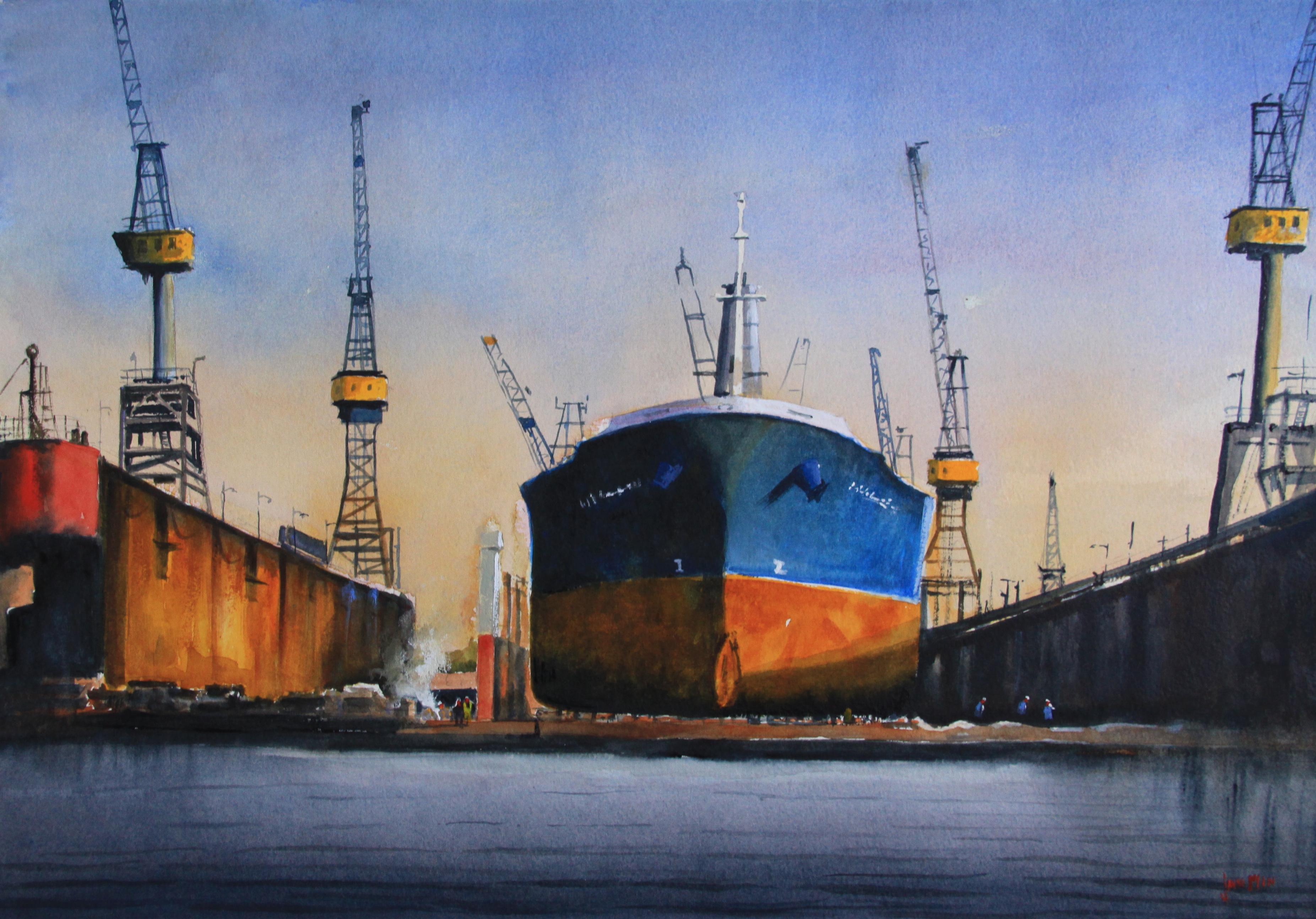 Dockyard:Jan Min: 50 x 70 cm